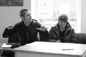Robbie Coleman (left) at Art_inbetween